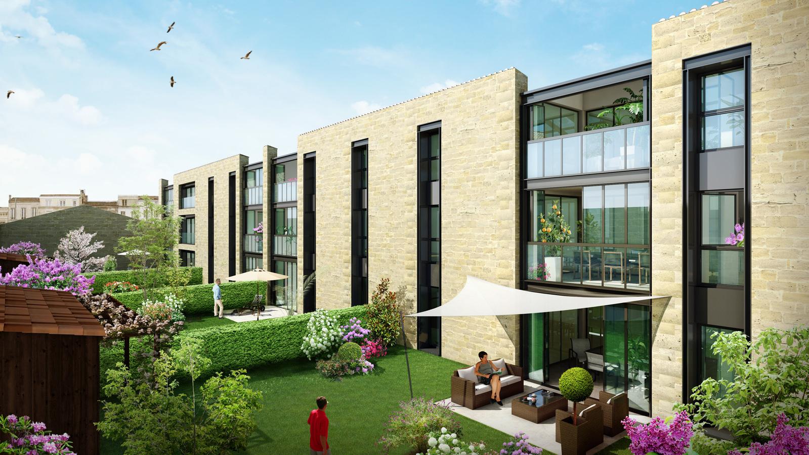 L 39 orangerie 19 appartements neufs bordeaux for Appartement neuf bordeaux centre ville